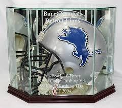 glass football helmet display case