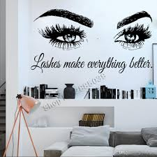 Lashes Make Everything Better Art Beauty Salon Quote Wall Stickers Home Decor Vinyl Murals Fashion Eyelashes Wall Decals Uk 2020 From Joystickers Gbp 7 67 Dhgate Uk