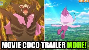 SHINY Celebi in Anime & Zerude Mythical in Pokemon the Movie Coco - YouTube