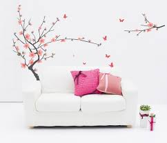 Salon Furniture Best Offers Pastel Pink Cherry Flower Tree Wall Stickers Decals Women Home Salon Bedroom Dining Room Decor Spring Plum Blossom Wall Papers