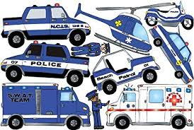 Amazon Com Police Wall Decals Stickers Cars And Truck Decor For Boys Arts Crafts Sewing