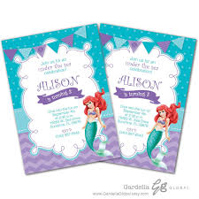 Little Mermaid Invitation Little Mermaid Invite Ariel Invitation