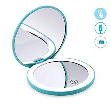 led lighted travel makeup mirror