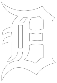 Detroit Tigers D White Decal Nostalgia Decals Retro Vinyl Stickers Nostalgia Decals Online