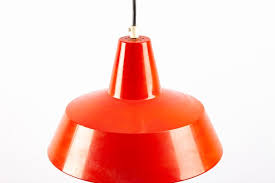 red metal pendant lamp from ikea 1960s