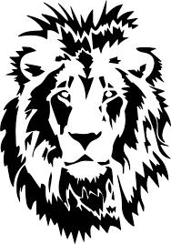 Lion Head Wild Animal Art Graphic Vinyl Sticker Car Truck Wall Laptop Decal Lion Silhouette Minimal Drawings Lion Stencil