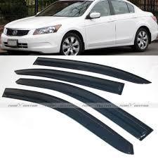Amazon Com Remix Custom Window Visors For 2008 2012 Honda Accord 4dr Sedan Mugen Style Door Deflector Shade Guard Automotive