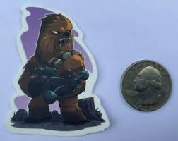 Star Wars Chewbacca Chewie Cartoon Vinyl Decal Sticker Wookie Skywalker Sku 43 Ebay