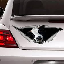Cow Car Decal Vinyl Decal Car Decoration Farm Decal Cow Etsy
