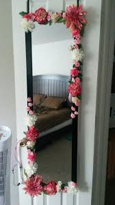 my diy mirror flower mirror