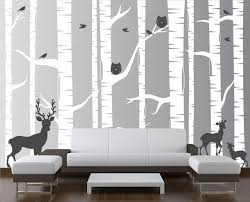 Isabelle Max 22 Piece Birch Tree Wall Decal Set Reviews Wayfair