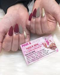 pink white nail spa located in