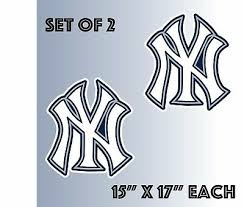 Decor Decals Stickers Vinyl Art Set Of 2 New York Yankees Vinyl Sticker Decal Cornhole 15 X17 Home Garden Vibranthns Lk