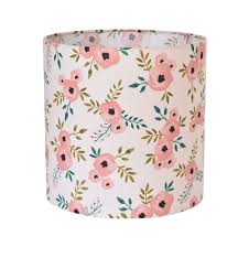 Blush Pink Floral Lamp Shade Kids Room Pink Lamp Shade Nursery Lampshade Floral Nursery Decor Baby Girl Room Table Lamp Bedroom Lampshade