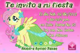 Invitaciones De My Little Pony Para Imprimir Gratis Imagui