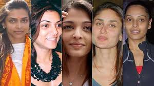 20 bollywood actresses with and without