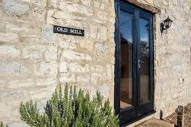 old mill french doors to the garden