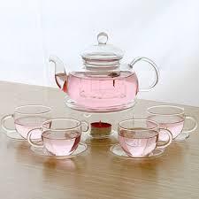 warmer set glass tea set hand made