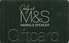rare gift card marks spencer clothing
