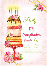 Invitacion Para Cumpleanos Pastel Personalizado 35 00 En