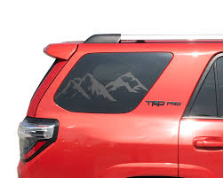 Product Mountain Windshield Decal Fits 2010 2019 Toyota 4runner Trd Pro Limited Stickers