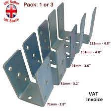 Heavy Duty Galvanised U Shape Post Fence Foot Anchors Thickness 4mm Pack 1or3 Ebay