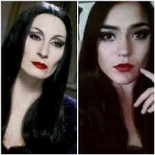 morticia addams makeup cosplay amino