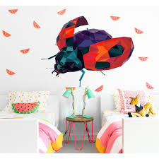 Shop Lady Bug Polygonal Wall Decal On Sale Overstock 32236883