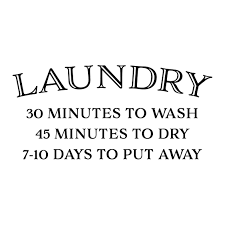 Laundry 30 Minutes To Wash Vinyl Wall Decal 45 Minutes To Dry