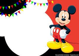 Free Printable Cute Mickey Mouse Invitation Templates