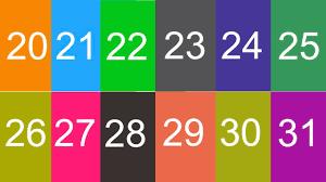 Thanh nấm - Học đếm số, tập đọc số, Bé học đếm số từ 20 đến 30 - YouTube