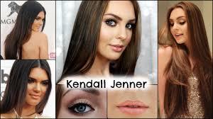 kendall jenner makeup sleek straight