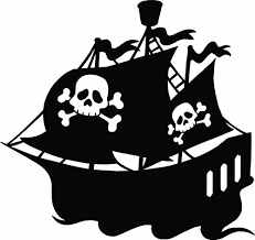 Pirate Ship Pirate Boys Vinyl Wall Sticker Decal For Home Decor Or Kids Bedroom 20 Inches X 20 Inches Color Black Buy Online In Burundi Design With Vinyl