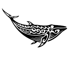 Amazon Com Tribal Whale Vinyl Decal Hawaiian Decal Maori Decals Handmade