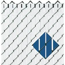 4 Ft H X 0 1 In L 78 Pack White Chain Link Fence Privacy Slat In The Chain Link Fence Slats Department At Lowes Com