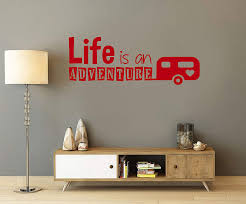 Amazon Com Life Is An Adventure Caravan Camping Glamping Holidays Vacation Wall Art Vinyl Decal Sticker Made In Usa Home Kitchen