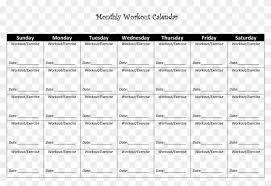 workout schedule template unique