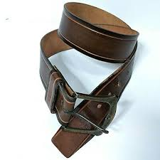 thick harness cowhide leather belt