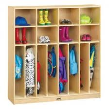 Kids 2 Person Wooden Coat Lockers With Cubbies