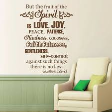 Fruit Of Spirit Is Love Wall Decal Bible Verse Galatians Saying Vinyl Room Decor Ebay