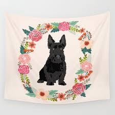 scottie dog breed fl wreath pet