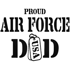 Proud Air Force Dad Vinyl Decal Sticker