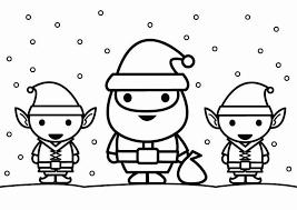 Kleurplaat Kerstman Met Elfjes Gratis Kleurplaten Om Te Printen