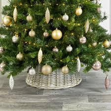 Huis 54cm Christmas Tree Skirt White Picket Fence Xmas Tree Base Cover Decoration Kerstboomvoeten Mobiliejitelefonai Lt
