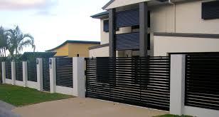Pool Fencing Gold Coast And Brisbane Modern Fence Design Modern Fence Brick Fence