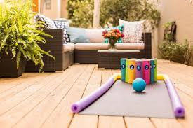 diy backyard bowling for kids