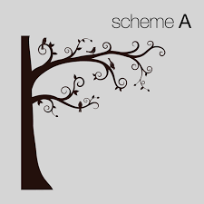 Corner Tree Wall Decal Transitional Wall Decals By Simple Shapes