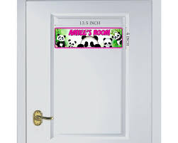 Panda Bedroom Door Sign Room Plaque Personalized Kids Room Door Sign Onestopairbrushshop