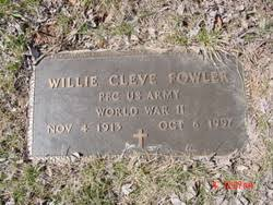 Willie Cleve Fowler (1913-1997) - Find A Grave Memorial