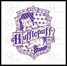 Hufflepuff House Crest Harry Potter Inspired Fan Art Vinyl Decal Decal Drama